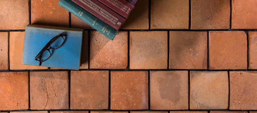 Square reclaimed terracotta tile