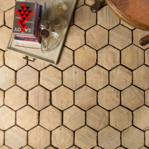 hexagonal terracotta tiles