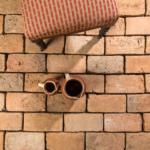 reclaimed brick floor