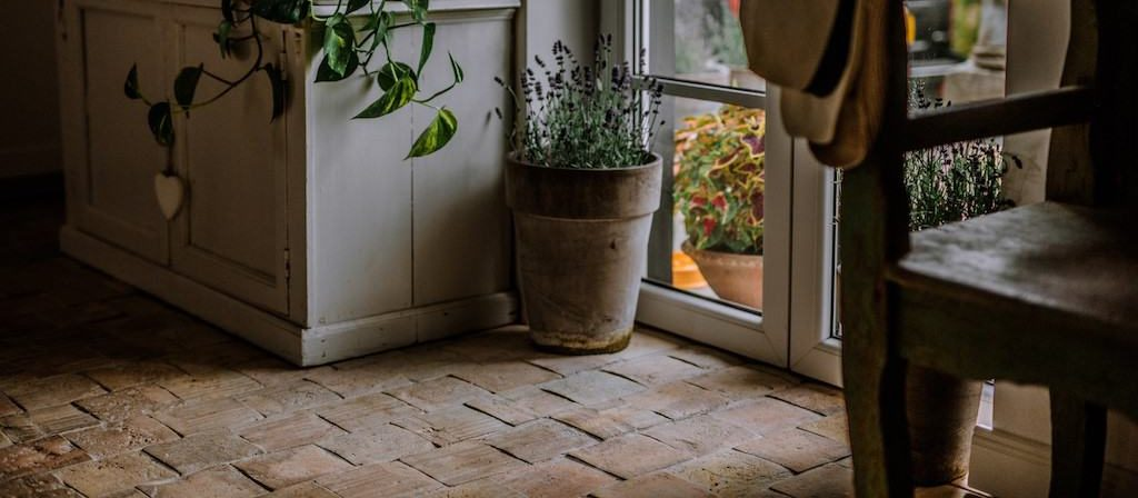 rustic terracotta floor tiles