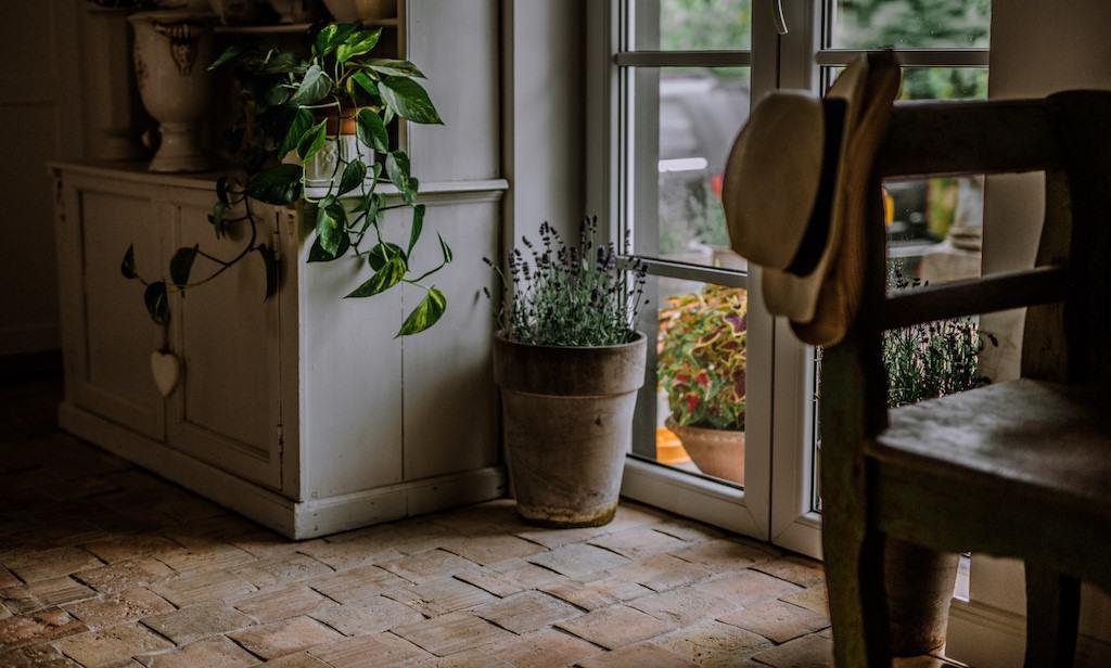 rustic terracotta floor tiles