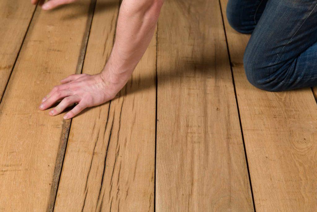 wooden oak floorboards
