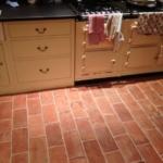 Warm terracotta tiles