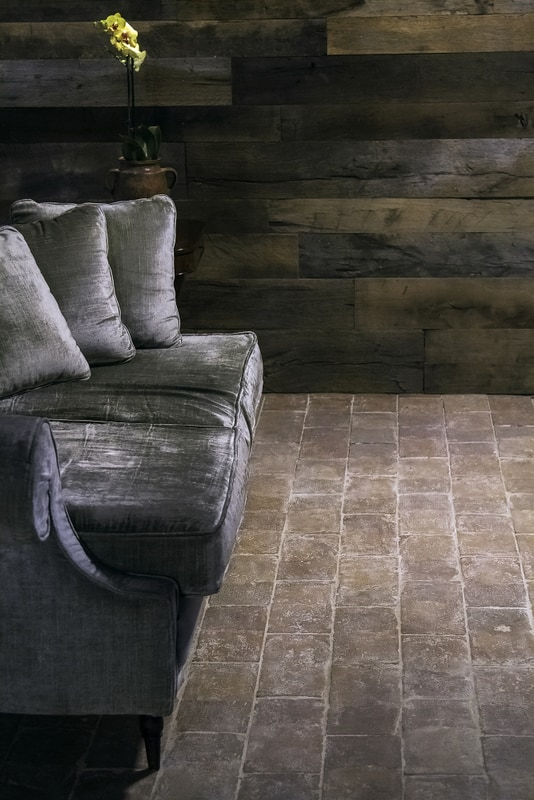 Reclaimed light terracotta tiles