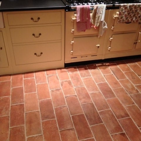 terracotta tile in a country kitchen