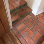 red brick floor tiles