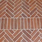 herringbone terracotta tile - KR4
