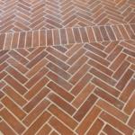 herringbone reclaimed terracotta pattern