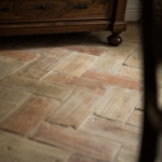 large pale terracotta tile