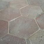 light hexagonal terracotta tile