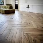 chevron reclaimed oak parquet flooring