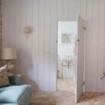 herringbone brick flooring pattern bedroom