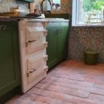 Aga and terracotta tile floor
