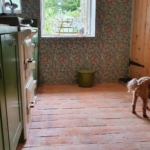 Kitchen with reclaimed terracotta