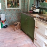 kitchen with terracotta tile