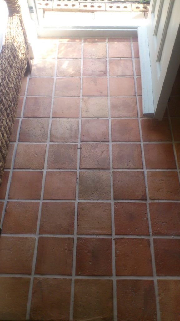 Reclaimed Terracotta tile satin finish