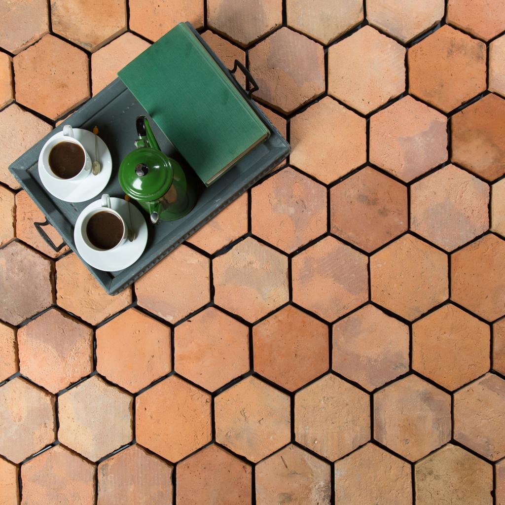 Hexagonal Terracotta Tile