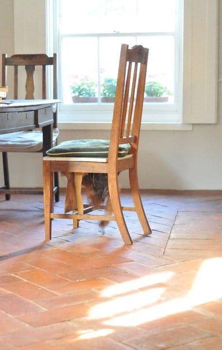 Reclaimed terracotta floor tile