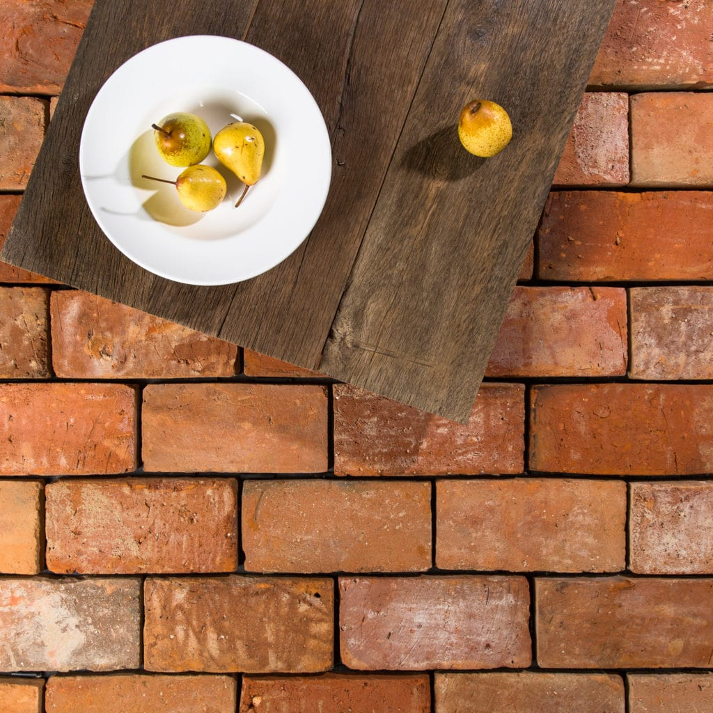 Warm reclaimed brick tile