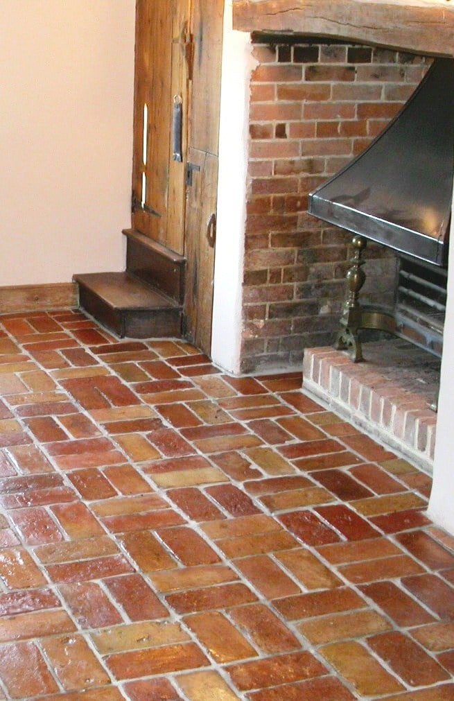 Boil Linseed Oil brick floor